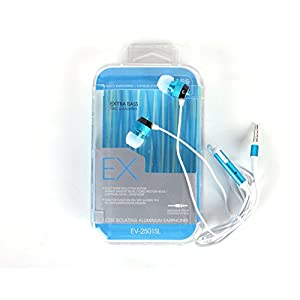 Callmate Metallic Noise-Reducing Stereo Headset with Mic Microphone (EV-250SL), skyblue