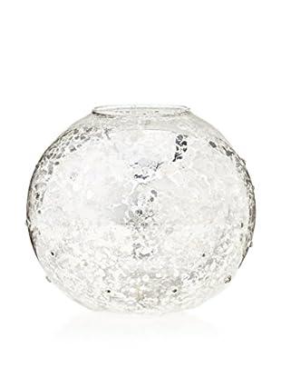 Antique Silver Glass Ball Tealight Holder