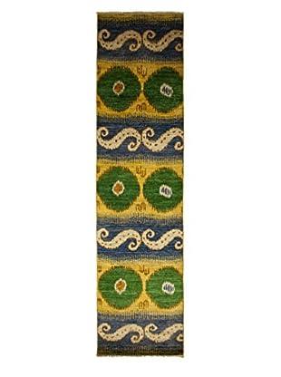 Darya Rugs Ikat Oriental Rug, Blue, 2' 10