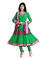 Nazaquat Elegant Green Anarkali Suit Salwar Kameez