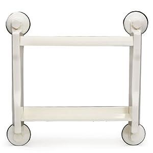 FabFurnish Home Reside Magic Suction 2 Tier Kitchen Storage Shelf White