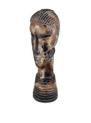 Privilege Small Ceramic Head Sculpture, Brown
