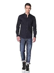 Antony Morato Men's Long Sleeve Woven Shirt (Navy)