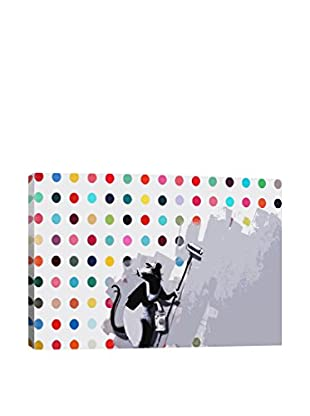 Banksy Rat Spots Damien Hirst Giclée On Canvas