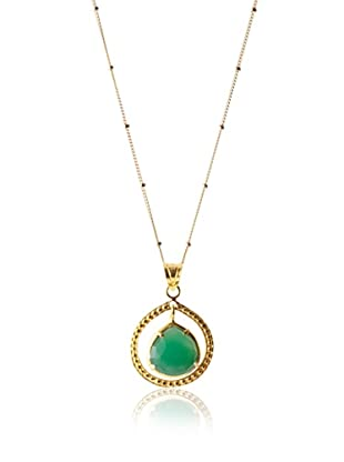 Coralia Leets Green Onyx Pendant Necklace