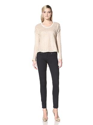 Isabel Lu Women's High-Low Sweater (Beige)