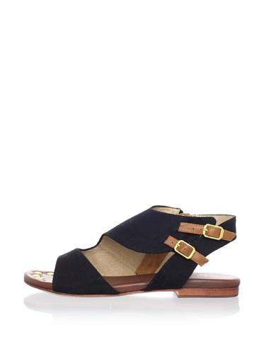 Matt Bernson Women's Sidecar Flat Sandal (Black)