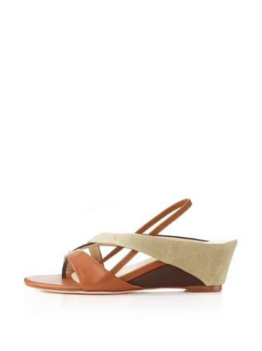 Farylrobin Women's Mina Wedge Sandal (Natural)