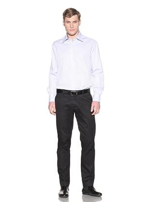 Valentino Men's Dress Shirt (Light Blue/White Small Square)