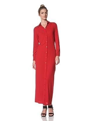 Norma Kamali Women's Maxi Shirt Dress (Red)