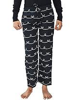 WINK Girls' Pyjama (WINKPYJAMAS-BLACKRIBBON, Black, L)