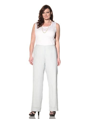 Z from Zenobia Women's Plus High-Waisted Trouser (Pale Blue)