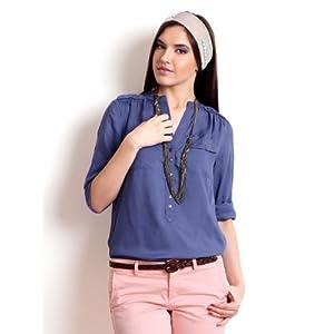 Being Human Women Purple Slim Fit Top
