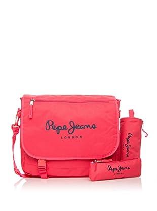Pepe Jeans Set de bolso bandolera + 2 estuches Fucsia