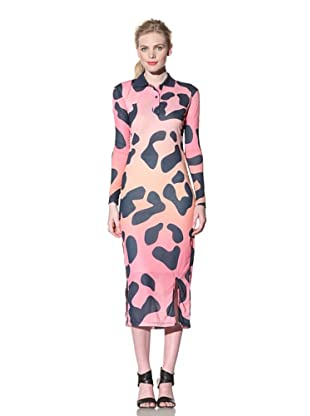 House of Holland Women's Leopard Print Maxi Dress (Multi)