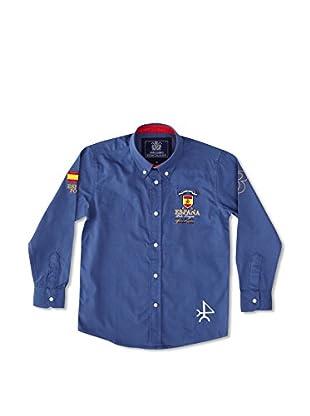 Valecuatro Camisa Junior Parche España (Azul Medio)