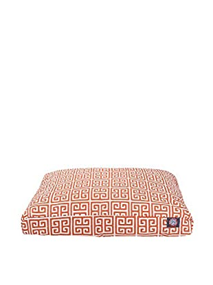 Towers Small Rectangle Pet Bed, Orange