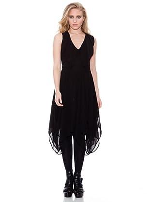 Firetrap Vestido Asimétrico (Negro)