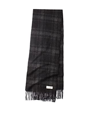 Joseph Abboud Men's Plaid Scarf (Black)