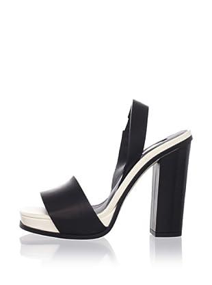 Calvin Klein Collection Women's Farah Slingback Sandal (Black/Star)