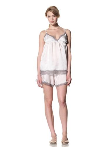 Toute la Nuit Women's Backless Top (Ivory/Grey)