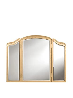 Camille 3-Fold Mirror Accented Wall Mirror, Gold Leaf