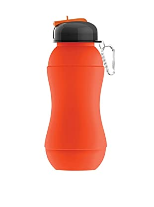 AdNArt Sili-Squeeze Collapsible Silicone Hydra Bottle with Sport Lid (Orange)