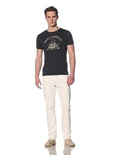 Tee Library Men's Buccaneer Crew Neck T-Shirt (Navy)