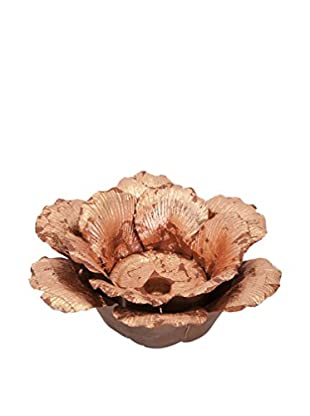 Fleurette Large Copper Leaf Porcelain Candle Holder