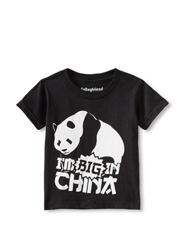 Ex-Boyfriend Boy's I'm Big in China Panda T-Shirt (Black)