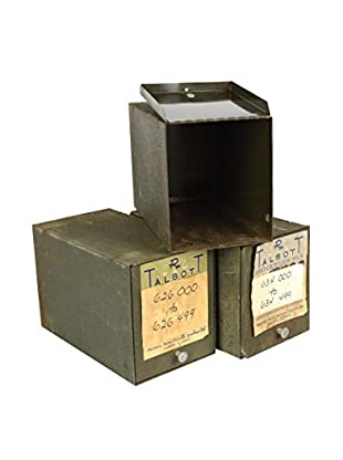 Uptown Down 1971 Set of 3 Hinged Prescription Record Boxes