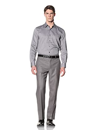 Perry Ellis Men's Slim Fit Oxford Shirt (Black)