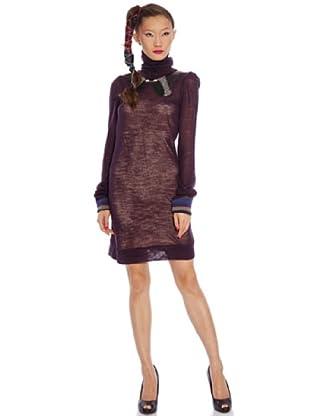 Custo Vestido Cis long (púrpura)
