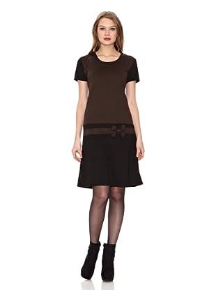 Assuili Vestido Bicolor (Negro / Chocolate)