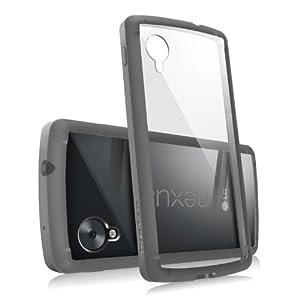 RINGKE FUSION Case Bumper, Anti Scratch Clear Back Panel, Design It Yourself Premium Hybrid Hard Case for Google Nexus 5 (Dark Gray)