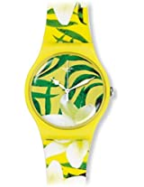 Swatch Women's SUOJ104 Limbo Dance Yellow Silicone Watch