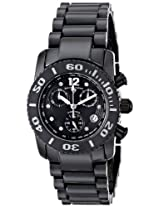 Swiss Legend Watches, Women's Commander White Diamond (0.064 ctw) Chronograph Black High Grade Ceramic, Model 10128-BKBD