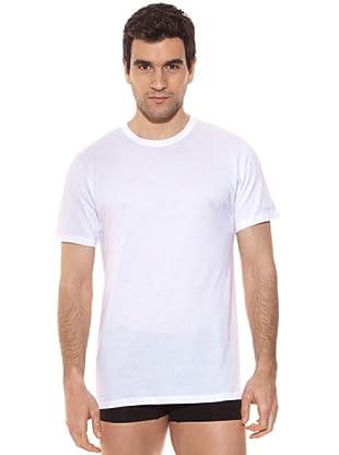 Kappa Camiseta mc Caballero Cuello Redondo 100% Algodón (Blanco)