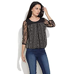 Lacey Charms Top-Black-M