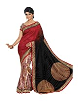 Red Color Art Bhagalpur Silk Saree with Blouse 11316