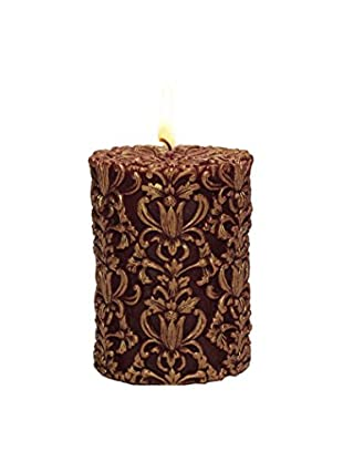 Volcanica Paramount Pillar Candle, Red/Gold, Small