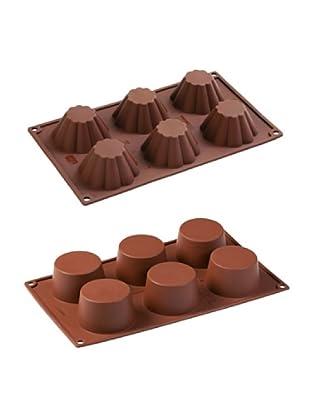 Pavoni Set 2 Moldes Para Muffin Y Brioches