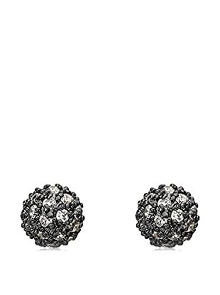 Riccova Retro CZ Pavé Ball Earrings, Black