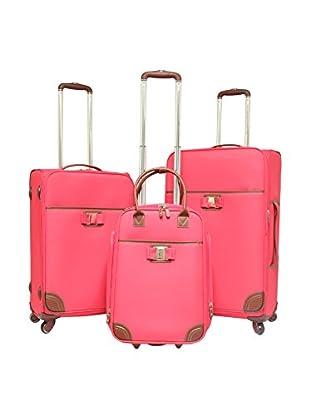 Travelers Club 3-Piece Softcase Luggage Set, Pink