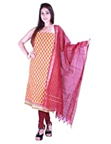 Platinum printed cotton unstitched Regular Dress Material