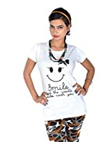 Vivaa Pure Cotton T-Shirt For Woman