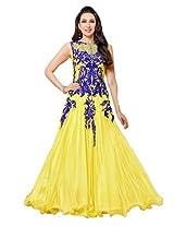 New Arrival Yellow Karishma Kapoor Long Anarkali Suit