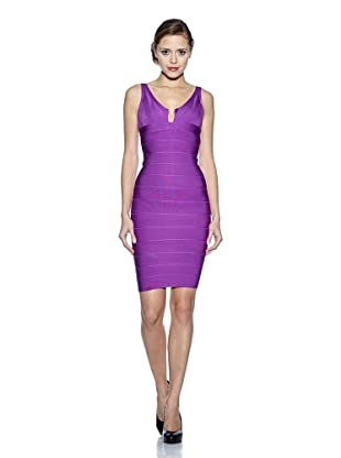 Corizzi & Absolu Vestido Bandas Abertura Escote Cóctel (Violeta)