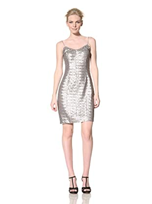 Mikael Aghal Women's Sequin Cocktail Dress (Platinum)
