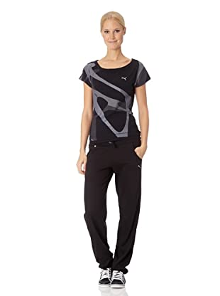 Puma Damen T-Shirt Move Graphic (Black)